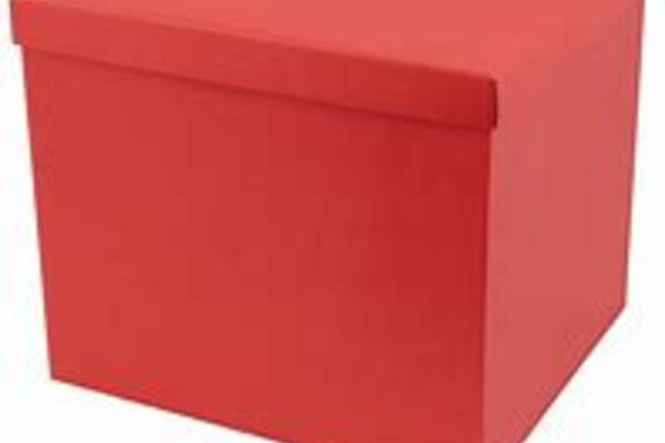 A red box