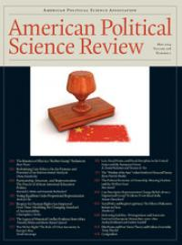 Cover of APSR journal